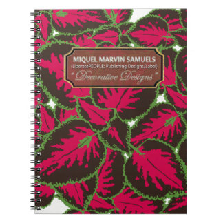 Red Brown Coleus Decorative Modern Notebook