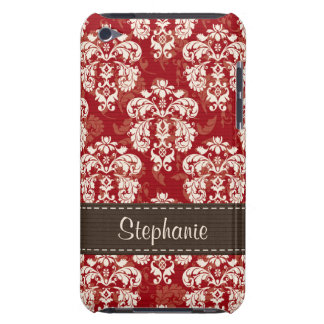Red Brown Damask iPod Touch 4th Gen Case-Mate Cove