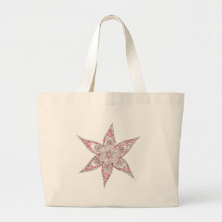 Red-Brown Traditional Design towel Jumbo Tote Bag