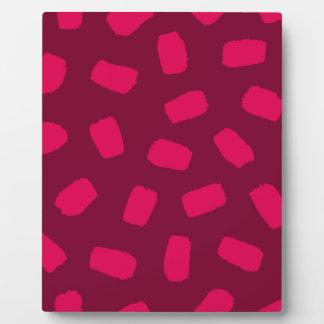 Red Brushstrokes Plaque