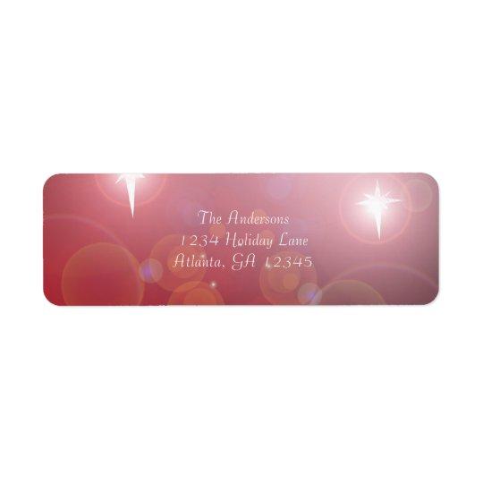 Red Bubble Christmas Star Return Address Return Address Label