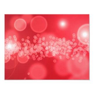 red bubbles 11 cm x 14 cm invitation card