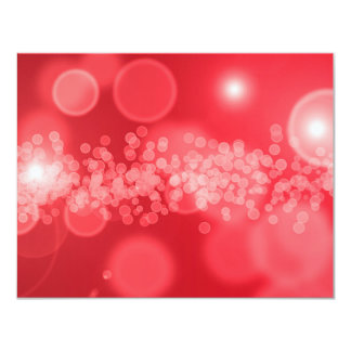 red bubbles 4.25x5.5 paper invitation card