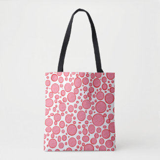 Red Bubbles Lightened Tote Bag