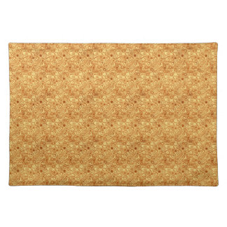 Red Bubbles on Gold Abstract Placemat