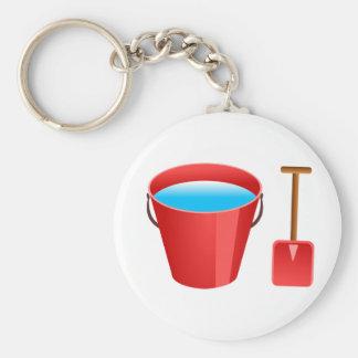 Red Bucket & Spade Key Ring