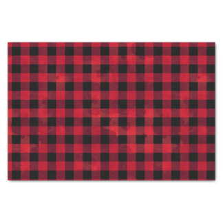Red Buffalo Check Tissue Paper