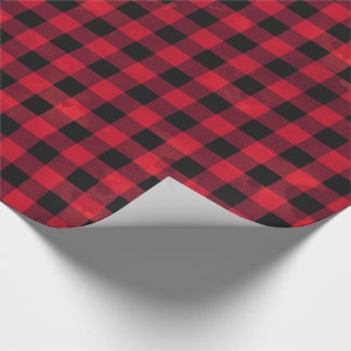 Red Buffalo Check Wrapping Paper