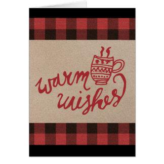 Red Buffalo Plaid Christmas Card