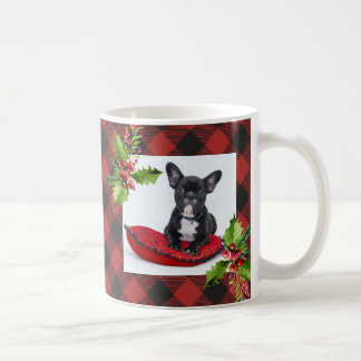 Red Buffalo Plaid Christmas Photo Coffee Mug