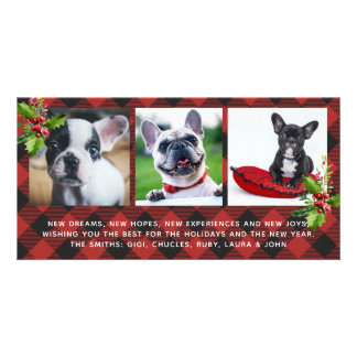 Red Buffalo Plaid Holidays Photo Card