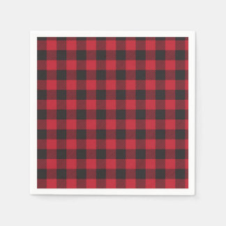 Red Buffalo Plaid Napkins Paper Napkins