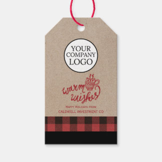 Red Buffalo Plaid Warm Wishes Company Christmas Gift Tags