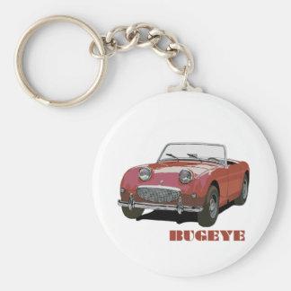 Red Bugeye Basic Round Button Key Ring