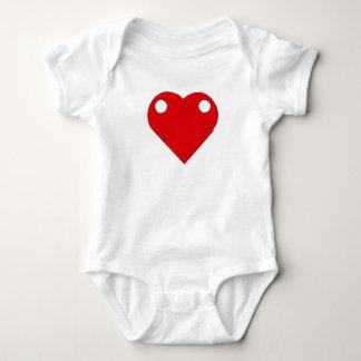 Red Building Block Heart Baby Bodysuit