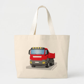 red building sites truck large tote bag