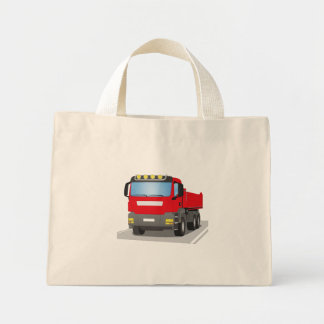 red building sites truck mini tote bag