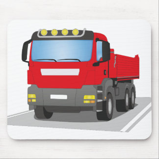 red building sites truck mouse mat