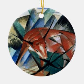 Red Bull (gouache on paper) Christmas Ornament