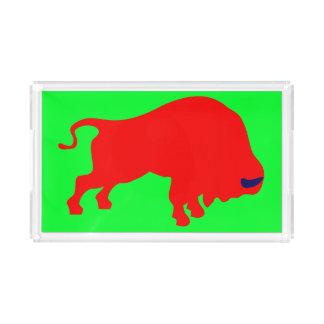 Red Bull Small Rectangle Tray,Green Acrylic Tray