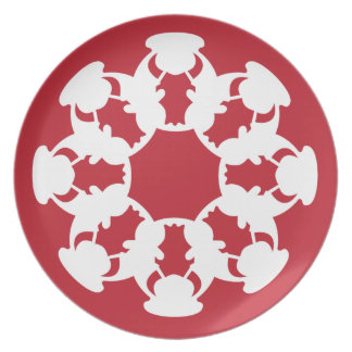 Red Bull snowflake-design cookie plate
