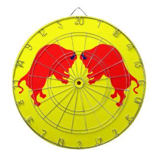 Red Bulls Metal Cage Dartboard,Yellow Dart Board