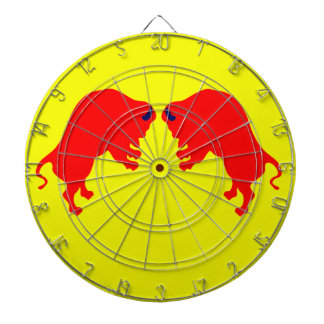 Red Bulls Metal Cage Dartboard,Yellow Dartboard