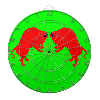 Red Bulls Metal Cage Green Dartboard