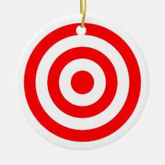 Red Bullseye Target Christmas Ornament