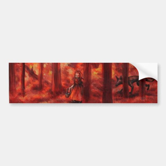 RED bumper sticker