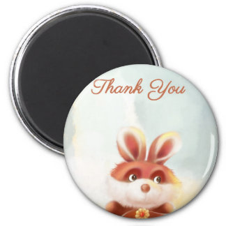 red bunny Thank You Magnet