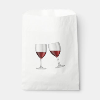 Red Burgundy Wine Glasses Wedding Party Engagement Favour Bags