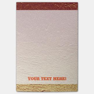 Red burnt terracotta gradient aluminum grunge post-it notes