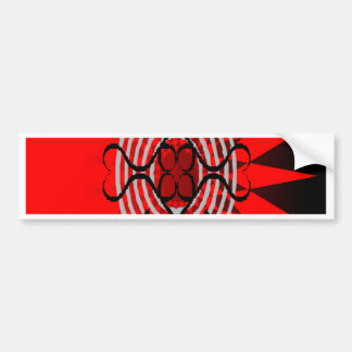 Red Burst Bumper Sticker