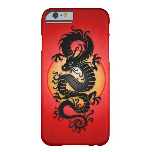 Red Burst Chinese Dragon iPhone 6 Case