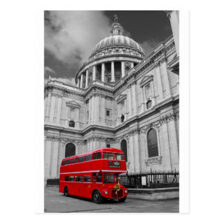 Red Bus and St Pauls Uni(multiple images selected) Postcard