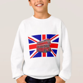 Red Bus and  Union Jack Flag Sweatshirt