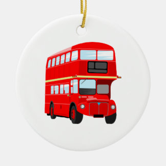 Red Bus Christmas Ornament