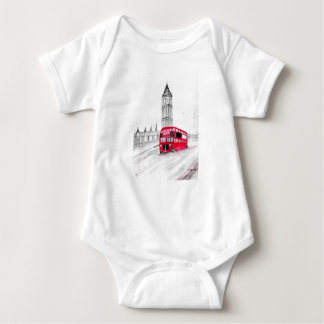 Red bus London Baby Bodysuit