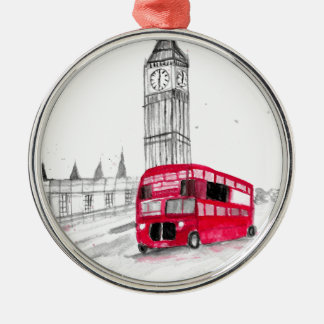 Red bus London Christmas Ornament