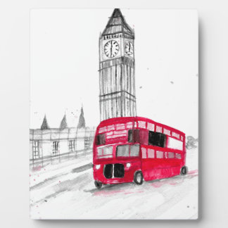 Red bus London Plaques