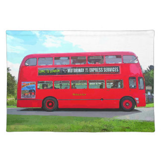 RED BUS PLACEMAT