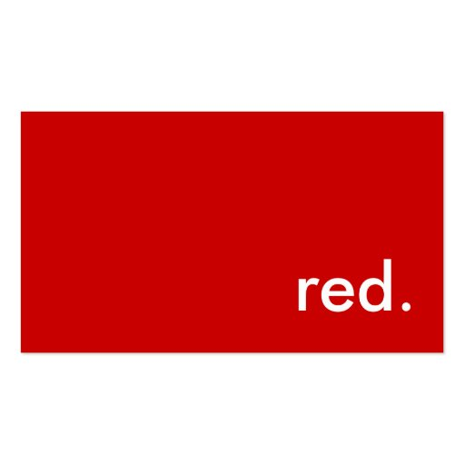 red. business card templates