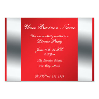 Red Business invitation