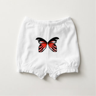Red Butterfly 2 by tony fernandes Nappy Cover