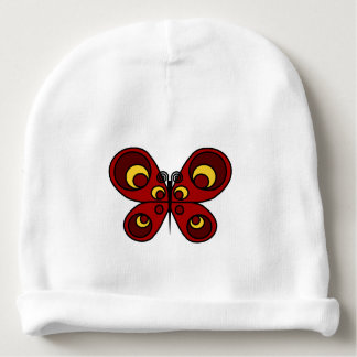 Red Butterfly Baby Beanie