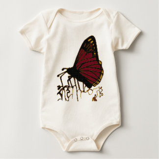 red butterfly baby bodysuit