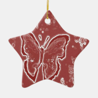 Red Butterfly Christmas Ornament