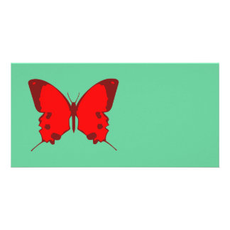 Red Butterfly Custom Photo Card