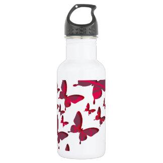 Red Butterfly Cutouts 532 Ml Water Bottle